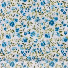Tricoline Floral Azul TRICO9050