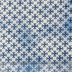 Tricoline Floral Esponjado Azul TRICO9676
