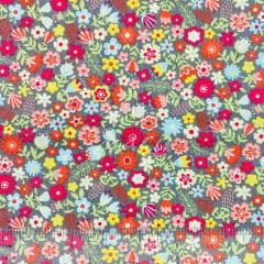 Tricoline Floral Colorido Flor Pequena TRICO8759