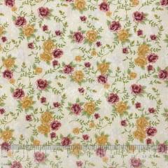 Tricoline Floral Jacobean Marfim TRICO8547