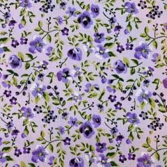 Tricoline Floral Lavanda Pintura TRICO8660