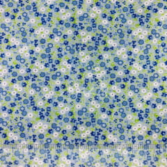 Tricoline Floral Miudo Azul TRICO9048