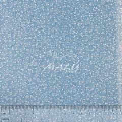 Tricoline Floral Miudo Azul Bebe TRICO9539