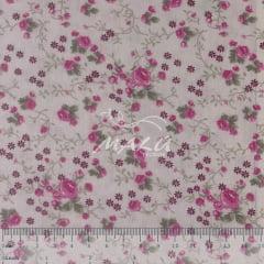 Tricoline Floral Rosa Miudinho