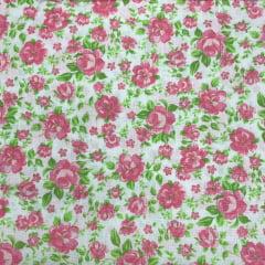 Tricoline Floral Rosa Suave TRICO8613