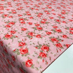 Tricoline Floral Rosa