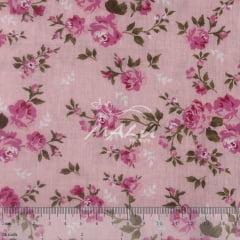 Tricoline Floral Rosinha