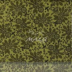 Tricoline Floral Verde Musgo TRICO9567