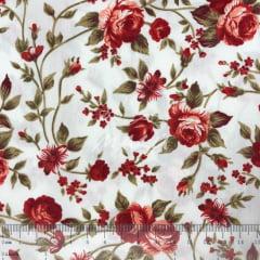 Tricoline Rosas Vermelhas TRICO9698