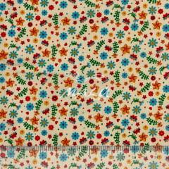Tricoline Floralzinho Colorido TRICO9090