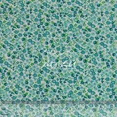Tricoline Floralzinho Verde Água