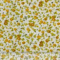 Tricoline Flores Amarelas