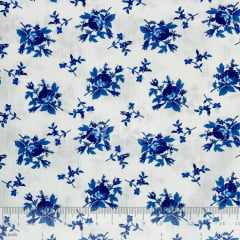 Tricoline Flores Azuis TRICO8908