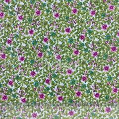 Tricoline Floresta Verde e Violeta TRICO8726