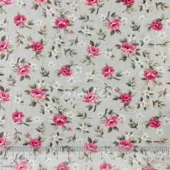 Tricoline Floral Lúcia Rosas