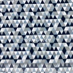 Tricoline Triangulo Azul e Cinza TRICO9255