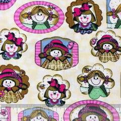 Tricoline com Quadrinhos de Boneca TRICO9550