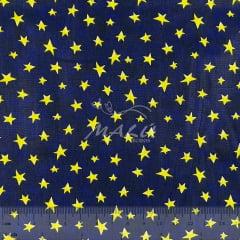 Tricoline Estrelas fundo Azul Marinho
