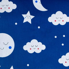 Tricoline Nuvem Boa Noite de Amor Marinho TRICO8540