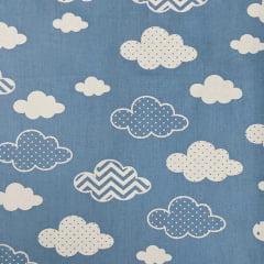 Tricoline Nuvens Azuis