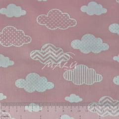 Tricoline Nuvens Rosa TRICO8938