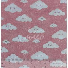 Tricoline Nuvens Rosas TRICO8856