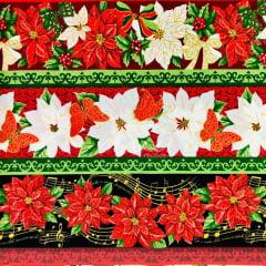 Tricoline Barrado Flores de Natal TRICO9011