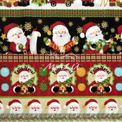 Tricoline Barrado Natal Papai Noel TRICO9481