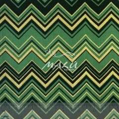 Tricoline Chevron de Natal Verde TRICO9101