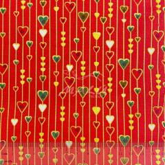 Tricoline Compose de Natal Vermelho TRICO8593