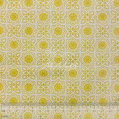 Tricoline Mandala Dourada no Marfim TRICO8591