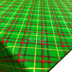 Tricoline Natal Xadrez Verde e Vermelho