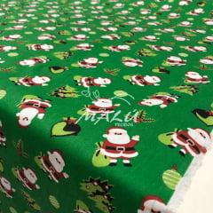 Tricoline Papai Noel Verde