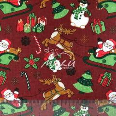 Tricoline Papai Noel Vermelho