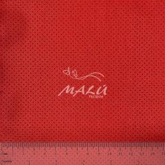 Tricoline Micro Poa Vermelho Bola Preta TRICO8734