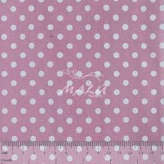 Tricoline Petit Poa Branco fundo Rosa Bebê TRICO9665