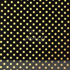 Tricoline Poa Amarelo com Preto TRICO9924