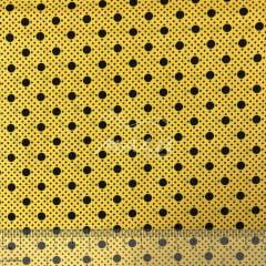 Tricoline Poa Amarelo com Preto TRICO9930