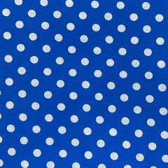 Tricoline Poa Azul Royal Bola Branca TRICO9670