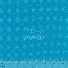 Tricoline Poa Miudo Azul Turquesa TRICO9008
