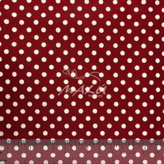 Tricoline Poa Vermelho com Branco TRICO9890