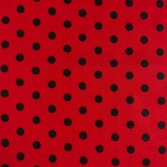 Tricoline Poa Vermelho e Preto TRICO9299