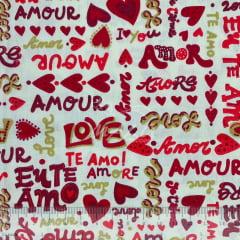 Tricoline Amor Love Te Amo TRICO8752