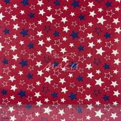Tricoline Estrelas Azuis e Brancas TRICO8912