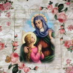 Tricoline Religião Santos Digital - 28cm