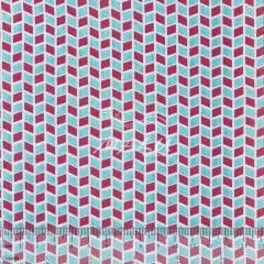 Tricoline Geométrico Rosa com Azul TRICO9528