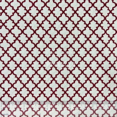 Tricoline Ornamento Vermelho com Branco TRICO8852