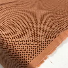 Tricoline Textura Bolinha Marrom