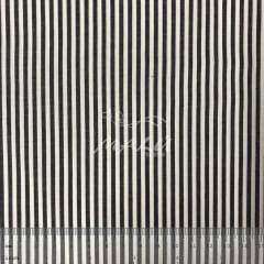 Tricoline Fio Tinto Listrada Branco com Preto TRICO9918