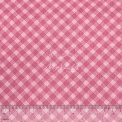 Tricoline Xadrez Diagonal Rosa TRICO8629